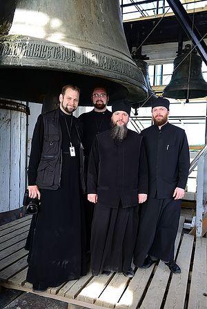 На колокольне Троице-Сергиевой Лавры