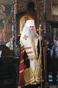 Митрополит Лонгин в монастыре Зограф, 2014 год