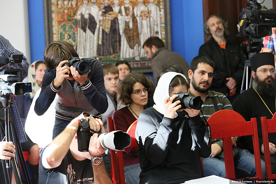 Презентация книги «Открытое сердце Церкви». Фото: В.Ештокин / Pravlib.ru