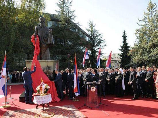 Откривен споменик Стефану Немањи, фото: nezavisne novine