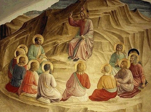 Fra Angelico. The Sermon on the Mount, fresco 1436 - 1443, Museo di San Marco, Florence