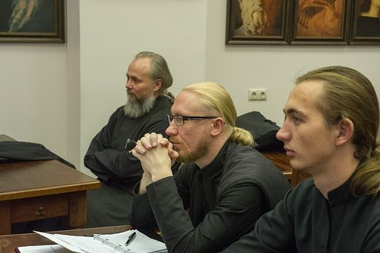 На лекции проф. Василюка Ф.Е. в Сретенской семинарии
