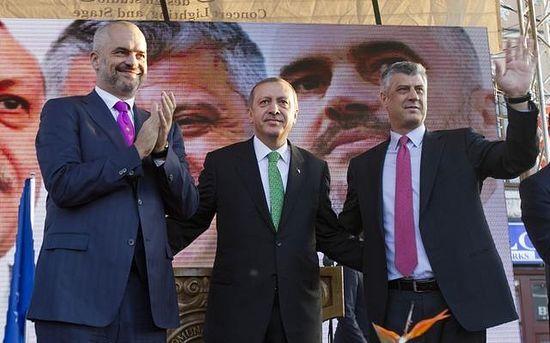 Реджеп Эрдоган с косовскими албанскими лидерами