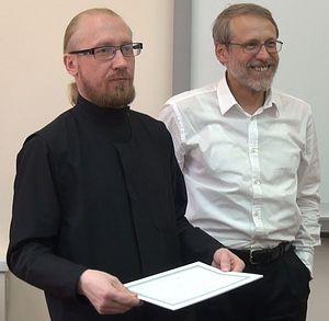 Проф. Василюк Ф.Е. и Дементьев Д.В. в Сретенской семинарии