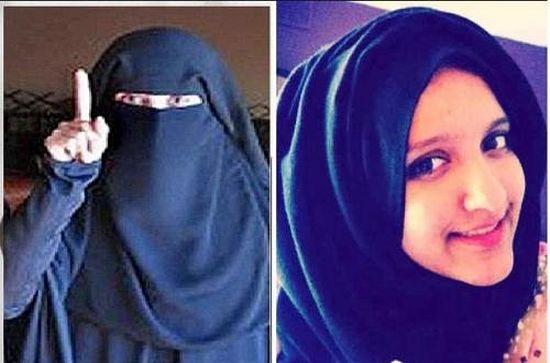 Два лица Аксы - справа еще в Англии, слева - уже с ИГ