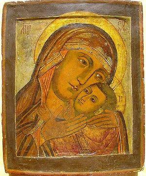 Икона Божей Матери Корсунской, список XVIII века