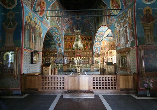 The Kazan Church. Here the relics of the elders are kept.