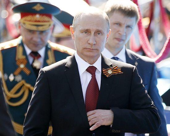Президент России на праздновании Дня Победы в Севастополе. 2014 г.