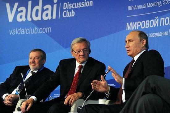 Президент России В.В. Путин на заседании Валдайского клуба