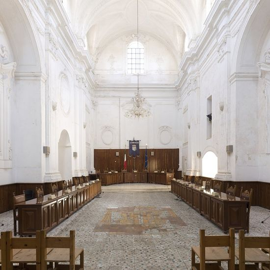 Beyond a doubt, perfect decisions (in terms of the human morals) are made here: a conference hall in the former St. Philomena's Church in Ugento.