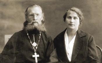 Священномученик Зосима Трубачев с супругой Клавдией Георгиевной