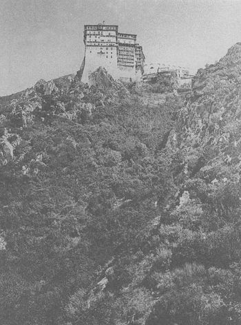 Монастырь Симонопетра, фотография 1870 г.