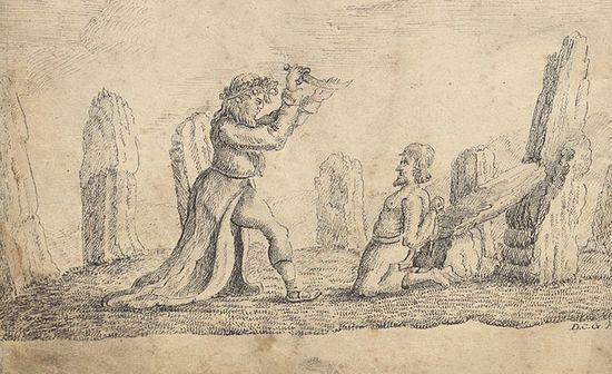 Друид приносит человека в жертву
