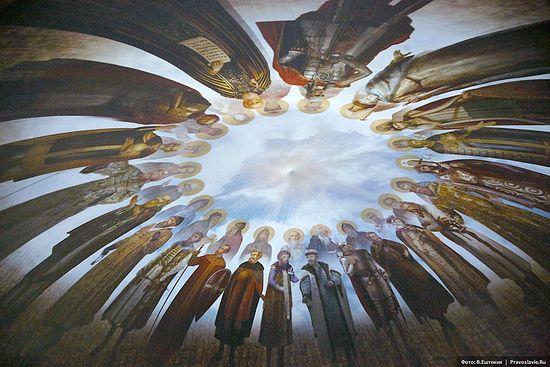 Изображение на мультимедийном куполе. Фото: Владимир Ештокин / Православие.Ru