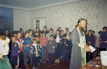 Крещение детей в сазоновском детском доме