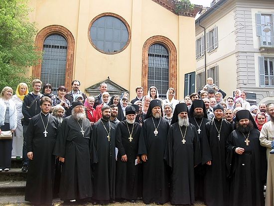 Архиепископ Марк (Головков) и духовенство североитальянских приходов