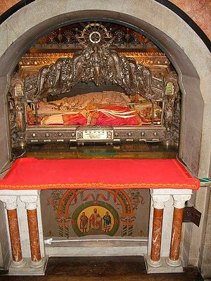 Milan. Shrine with the relics of St. Ambrose of Mediolanus (Milan).