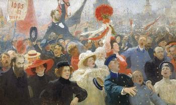 Репин И.Е. Манифестация 17 октября 1905 года