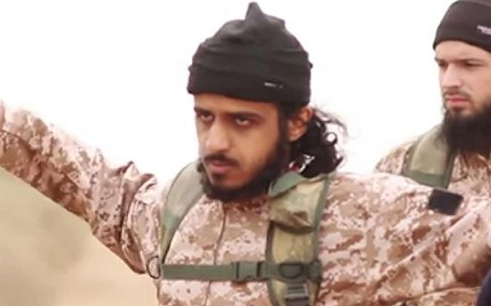 Nasser Muthana appeared to be among 16 jihadists who were filmed beheading Syrian soldiers Photo: Universal News