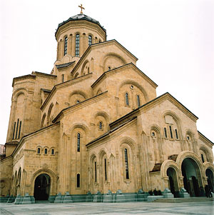 The new Holy Trinity Cathedral in Tbilisi, consecrated in November, 2004.