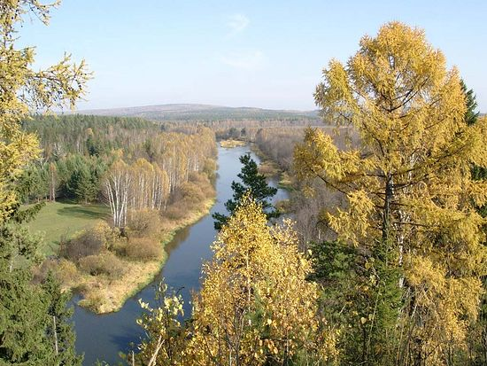 The Chusova River, Sergiev Posad.