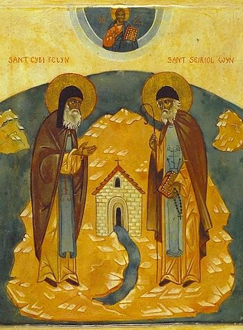 Icon of Sts. Seiriol and Cybi of Wales