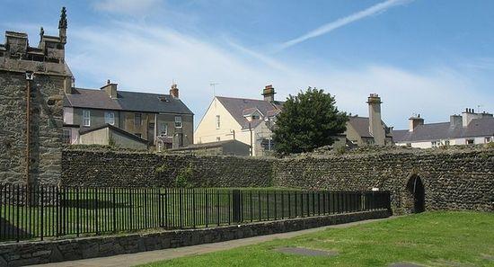A Roman wall near the St. Cybi's Church