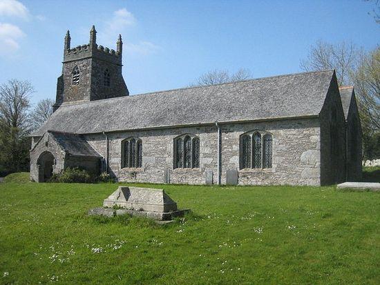 Church of St. Cybi in Cuby, Cornwall