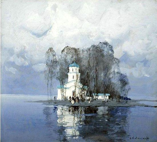 Колесников. Церковь зимой