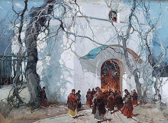 Русская Пасха. Художник: С.Ф. Колесников