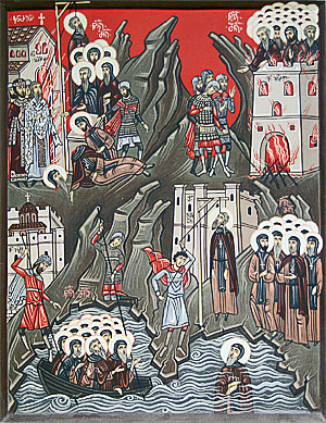 Holy Martyrs of Iveron Monastery.