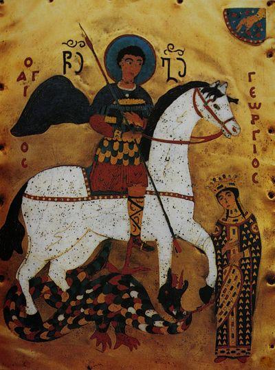 Святой Георгий Победоносец, грузинская икона