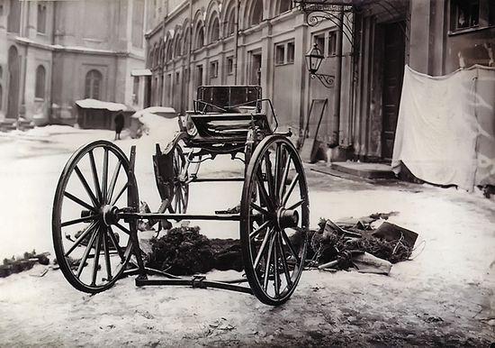 Остатки кареты великого князя Сергея Александровича после взрыва