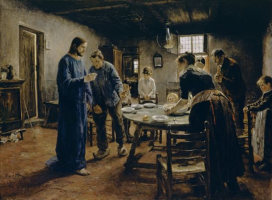 Grace before the Meal, by Fritz von Uhde, 1885