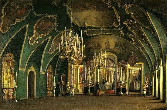 Степан Шухвостов. Внутренний вид Алексеевской церкви Чудова монастыря
