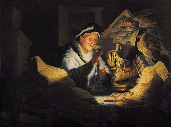 The Parable of the Rich Fool by Rembrandt, 1627.