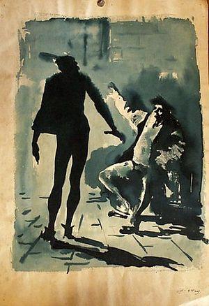 Фауст и Мефистофель. Рисунок