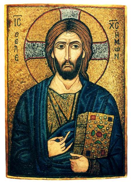 Христос Милостивый. Византийская мозаичная икона. 1-я пол. XII века