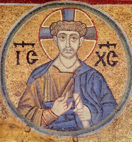 Христос Священник. Мозаика из Софии Киевской. XI век