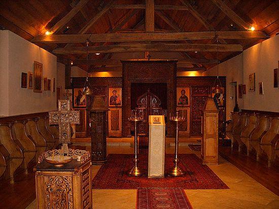 В Церкви монастыря св.Силуана
