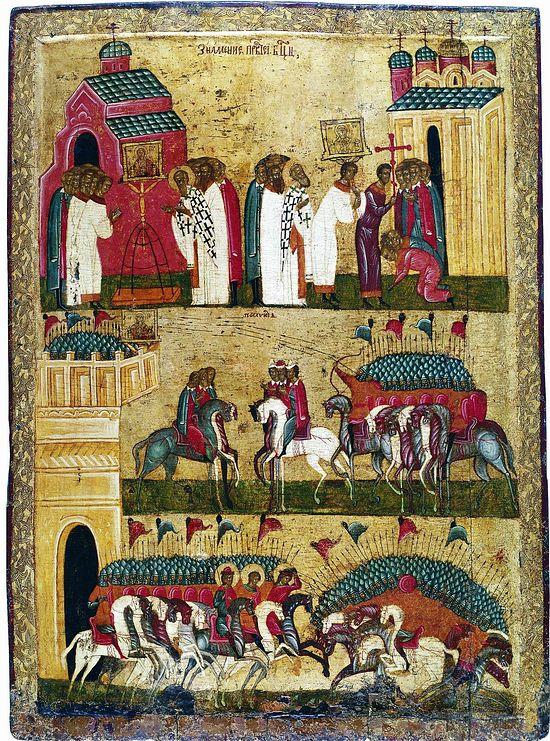 Чудо от иконы Богоматерь Знамение. Битва новгородцев с суздальцами, XV в.