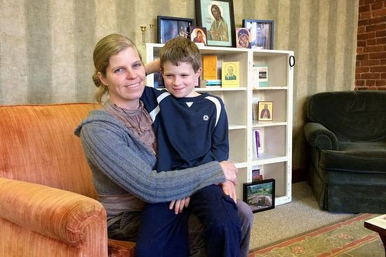 "Jodi Hailey, shown with her son Owen, started ""The Ancient Church: Orthodox Christian Art, Music and Reading Room"" with her husband as a way to help people discover the Orthodox faith. (Kelsey O'Halloran/Forest Grove Leader)"