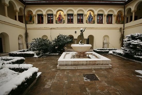 Courtyard at the Patriarchal complex, Bucharest