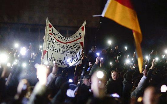 Демонстрация в Дрездене. Photo: REUTERS