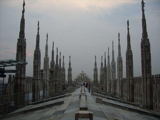 Милан. На крыше кафедрального собора (Дуомо)