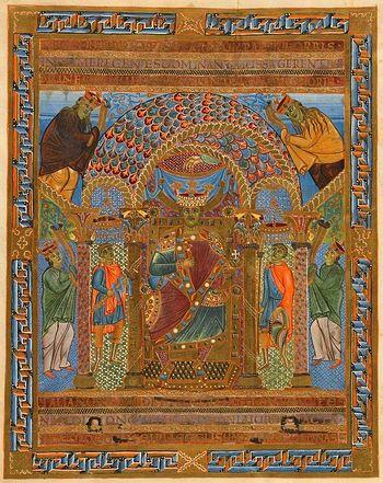 Генрих II Святой на троне