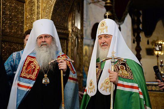 Святейший Патриарх Московский и всея Руси Кирилл и Митрополит всей Америки и Канады Тихон