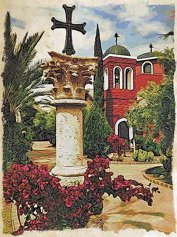 St. Anthony Orthodox Monastery, Arizona. Artwork by Ken Bosma ©©