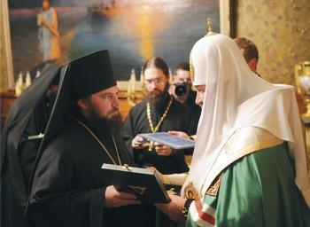 Ноябрь 2011 года, Патриаршая резиденция в Чистом переулке, наречение архимандрита Тарасия во епископа Балашовского