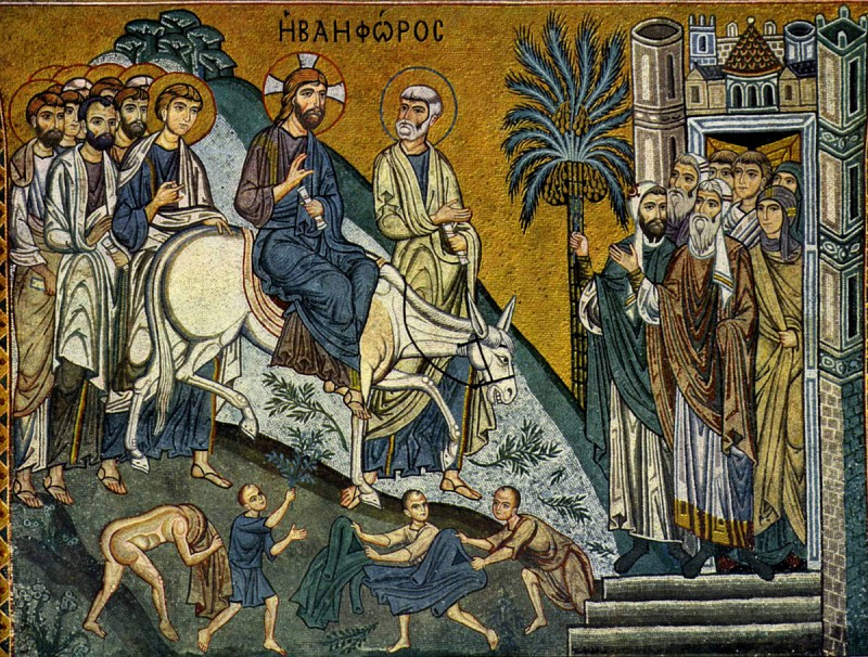 The Entry of the Lord into Jerusalem: icons and frescoes